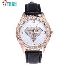 Watch OTOKY Newly Design Luxury Diamond Rhinestone Watch Women Female Faux Leather Analog Wrist Watches 170104 Drop Shipping