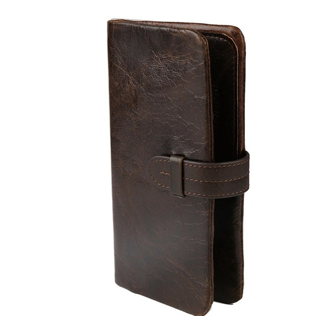 Genuine Leather Wallet Men Soft Skin Purse Long Large Capacity Zipper Male Wallet Pocket Fashion High Quality Business Wallets
