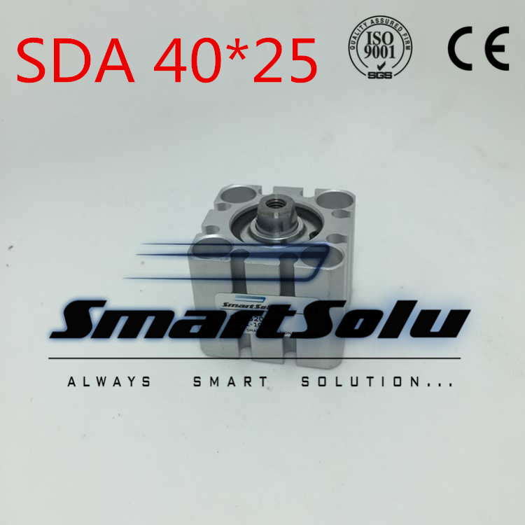 Free Shipping SDA40 x 25  40mm Bore 25mm Stroke Air  Compact Cylinder