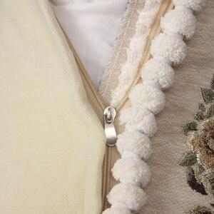Image 5 - CURCYA lüks şönil jakarlı zarif minder kapakları kanepe ev dekoratif yastık kılıfı avrupa çiçek noel hediyesi