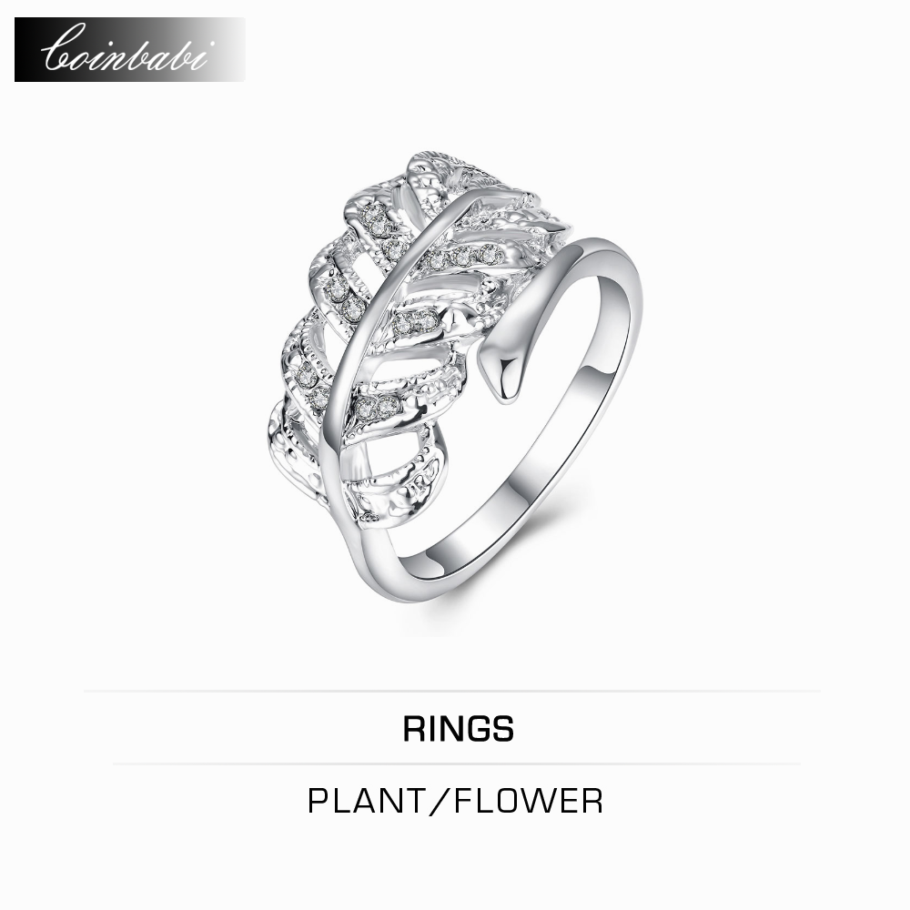 online get cheap electronic resumes com alibaba group ring plant flower fashion gold brick inlaid platinum ring leaves white gold jewelry whole rs whole