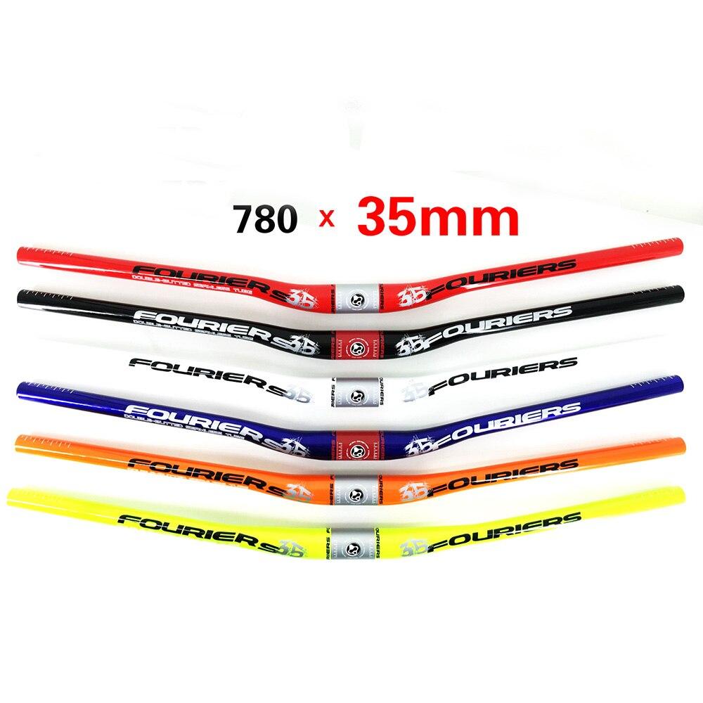 Guidão Riser de Liga de fourier 6066-T6 DH FR AM Enduro 20 35mm x 780mm mm Subir Montanha MTB Bicicleta barra do punho de Alta Resistência