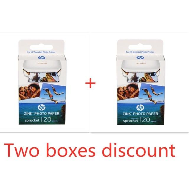 2 קופסות (40 דפים) אברה מקורי תמונה נייר צילום מדפסת zink תמונה נייר קלטת להדביק דבק עבור hp ZINK תמונה נייר