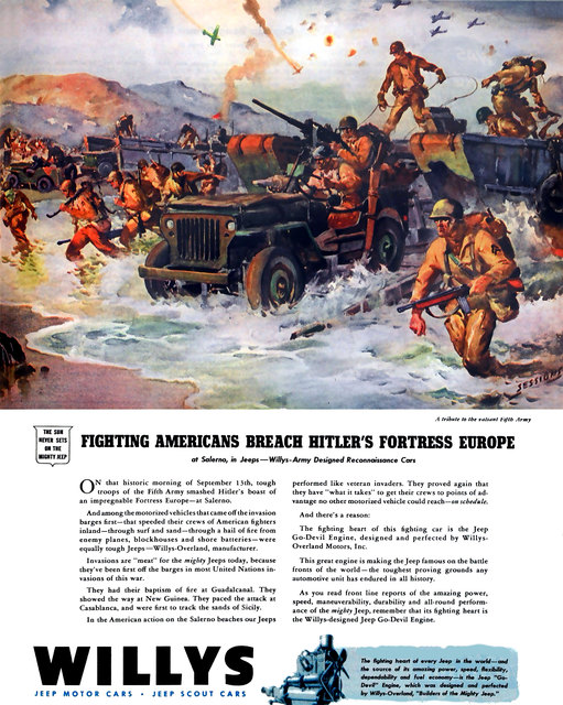 US $3 98 |Vintage Propaganda Poster WW2 Salerno jeep Classic Canvas  Paintings Wall Posters Stickers Home Decor Gift for Kid-in Painting &  Calligraphy