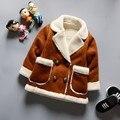 Casacos crianças de Alta qualidade roupas de couro do bebê meninos Inverno casacos quentes de espessura de veludo crianças Outerwear casacos de inverno