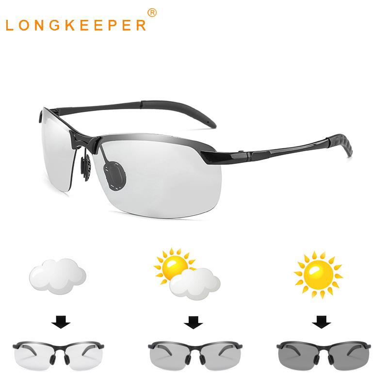 LongKeeper Polarized Photochromic Sunglasses Men Sun glassesTravel Driving Eyewear Goggles Oculos gafas de sol UV400