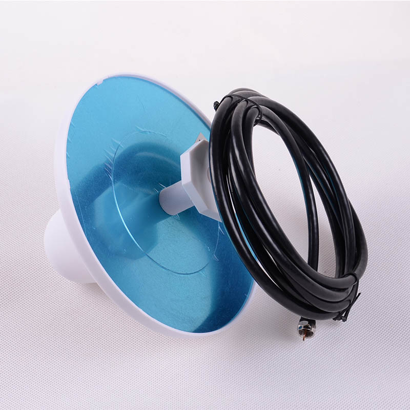 Omni-directional Celling Antenna 806 - 960MHz And 1710 - 2500MHz F Connector With 3M Cable For Cell Phone Signal Power Amplifier