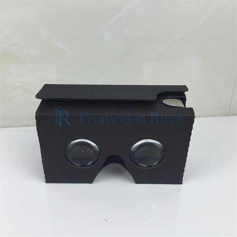 Event Supplies Logo Custom Black Google Cardboard V 2.0 Custom printing Virtual Reality Headset VR Viewer for up to 6 inch phone 4