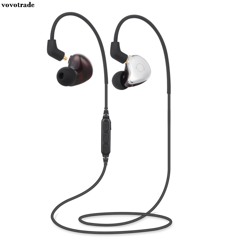 toopoot Hifi Double-Use Wired/Wireless Earphones Bluetooth Headphones Headset Sports Stereo Ear Buds with MIC for Cellphones MP3