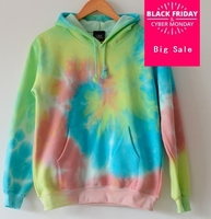 2017 Harajuku tie dyeing Fashion Gradient Color Hoodies Sweatshirt Women Rainbow Sweatshirt AW433
