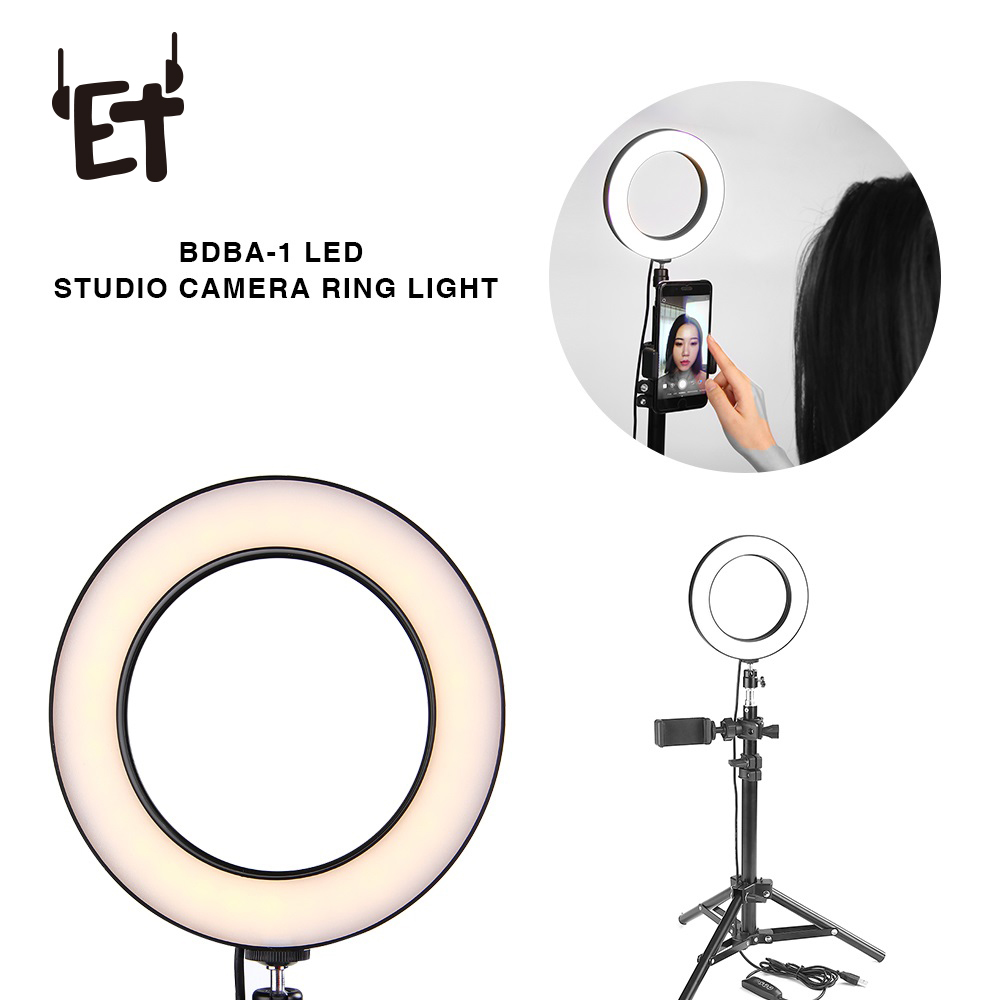 Photography Dimmable LED Selfie Ring Light Youtube Video Light 16/26cm with Tripod Stand Light Enhancing Light Lamp for Livecast