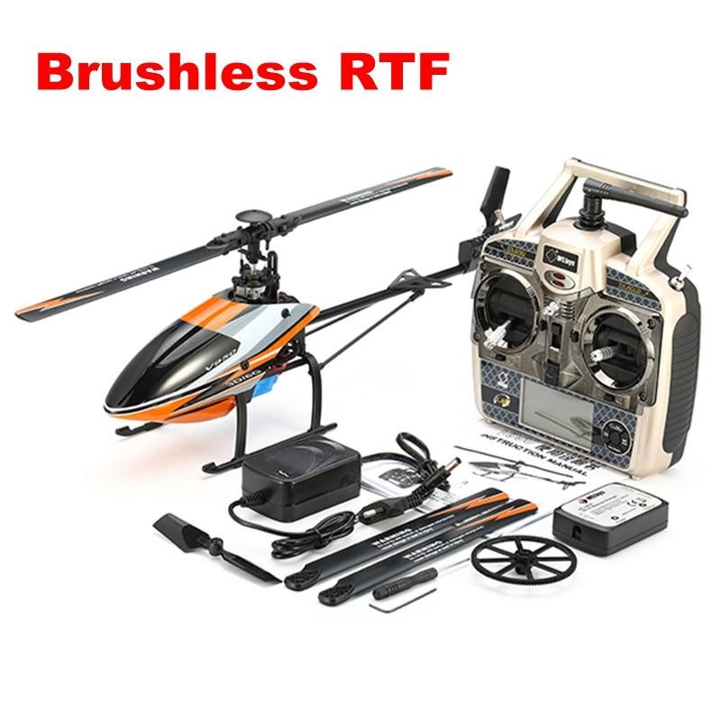 Оригинальный WLtoys v950 2.4 г 6ch 3d6g Системы бесщеточный Flybarless вертолет RTF