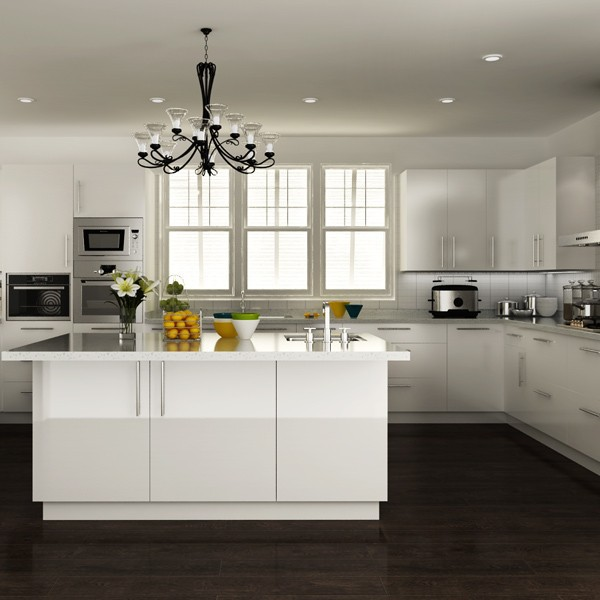 White Lacquered Kitchen Cabinetry: Australia Built Ins White Lacquer Cabinets Modern Kitchen