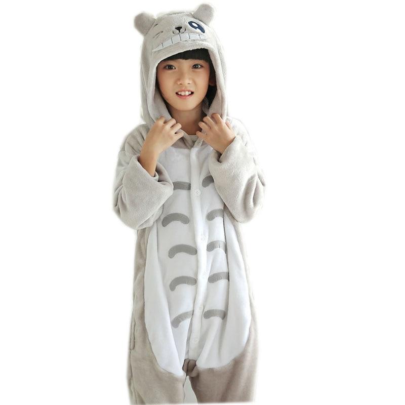 Centuryestar Flannel Animal My Neighbor Totoro Pajamas Onesie Hooded Kids Pijama Home Sleepwear Pyjamas For Girls Boys 3-12 Year