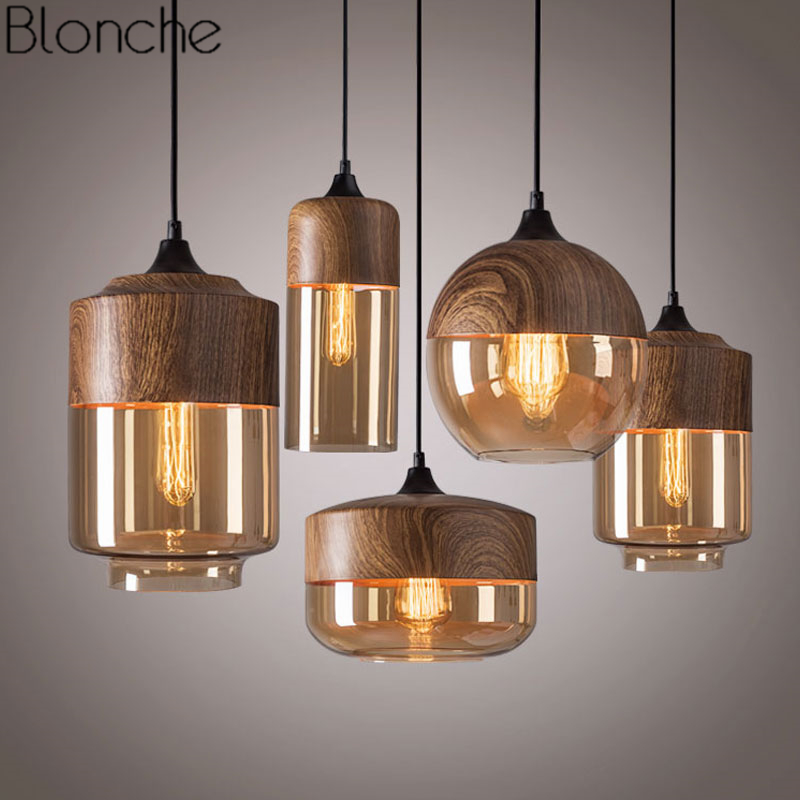 Modern Pendant Lamp Retro Loft Glass Hanging Light for Dining Room Kitchen Home Decor Lighting Industrial Vintage Iron FixturesModern Pendant Lamp Retro Loft Glass Hanging Light for Dining Room Kitchen Home Decor Lighting Industrial Vintage Iron Fixtures