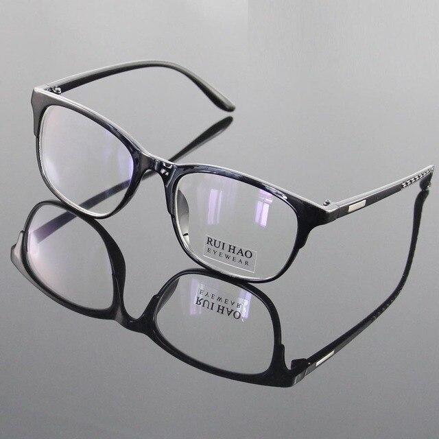 Negro Claro Gafas de Equipo Anteojos UV400 Lente Unisex Gafas Marco Gafas Gafas de Marco Hombres Mujeres Gafas oculos