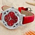 Люксовый Бренд VILAM Кварцевые Часы Водонепроницаемые Повседневная Мода Часы Женщины Цветок Стразы Кожа Наручные Часы relogios femininos