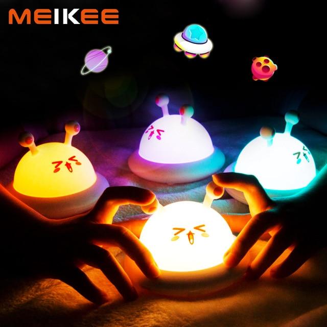 Cute Animal Silicone LED Night Light Touch Sensor LED Bedroom Night Lamp Children Baby Kids Bedside Nightlight Sleeping Lamp