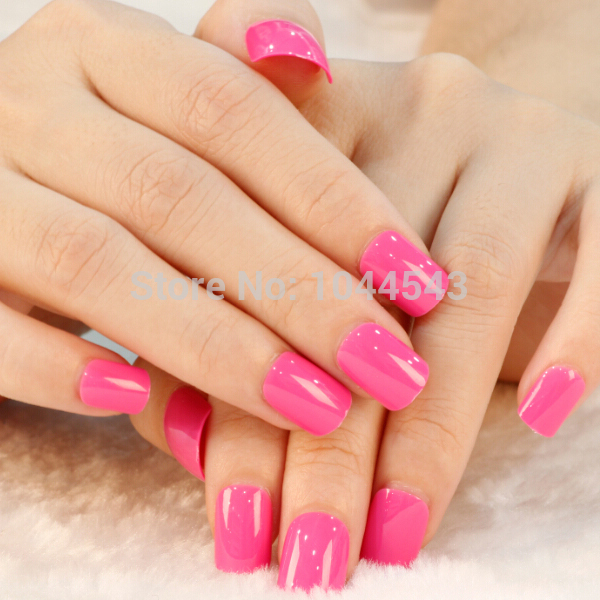 Bright pink press on 24 nails fast easy salon manicure nail art bright pink press on 24 nails fast easy salon manicure nail art full covers press prinsesfo Image collections