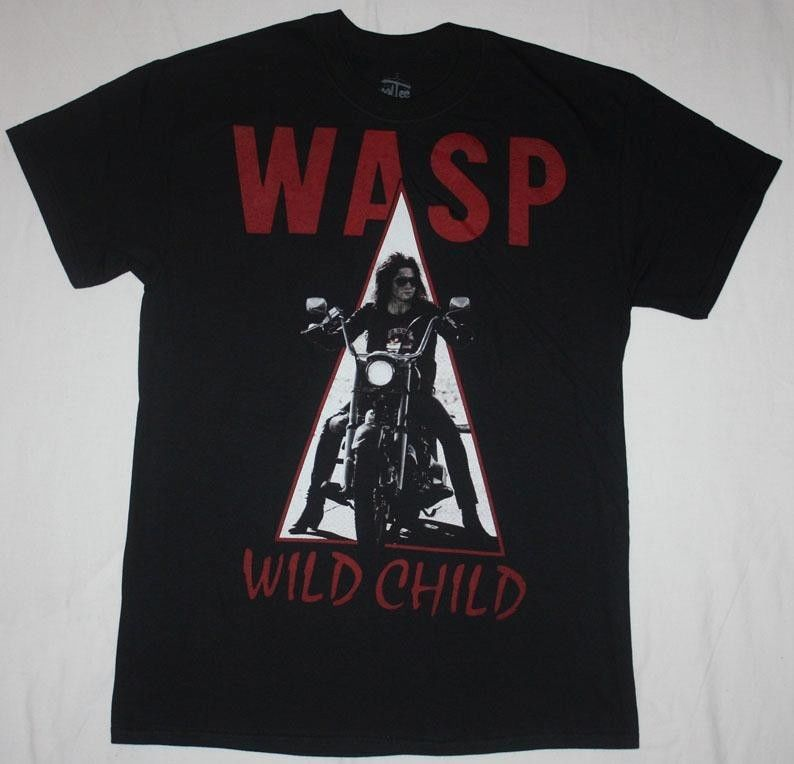 W.A.S.P.WILD CHILD85 WASP HEAVY METAL BAND TWISTED SISTER NEW BLACK T-SHIR Sleeve T Shirt Summer Men Tee Tops Clothing