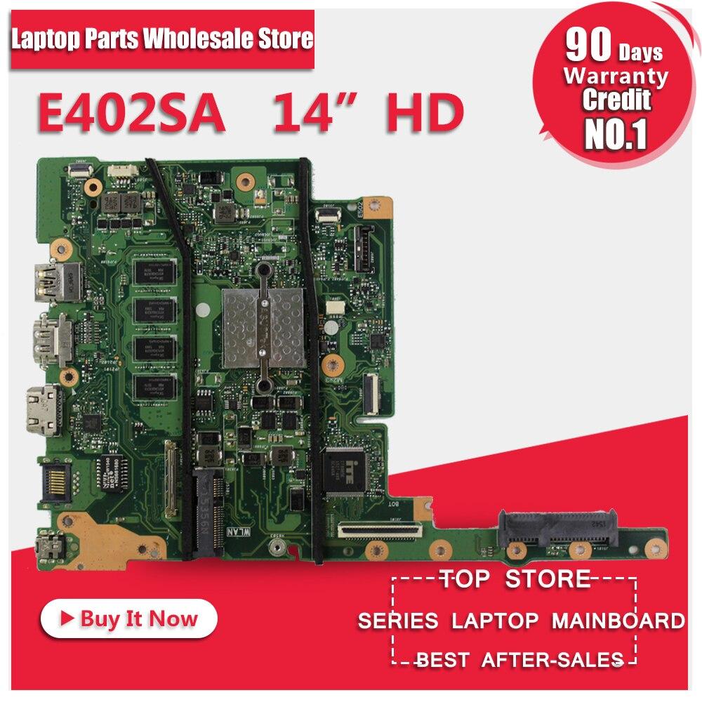 цена на E402SA For ASUS E402MA E502MA Laptop motherboard E402MA mainboard REV2.0 integrated cpu onboard freeshipping 100% tested