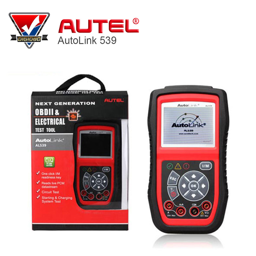 Autel AL539 AutoLink OBDII/EOBD Scanner Electrical Test Tool with TFT color display free online update obd ii scan tool 100% original autel autolink al519 code reader obdii eobd can scan tool updated online autolink al519 scanner free shipping