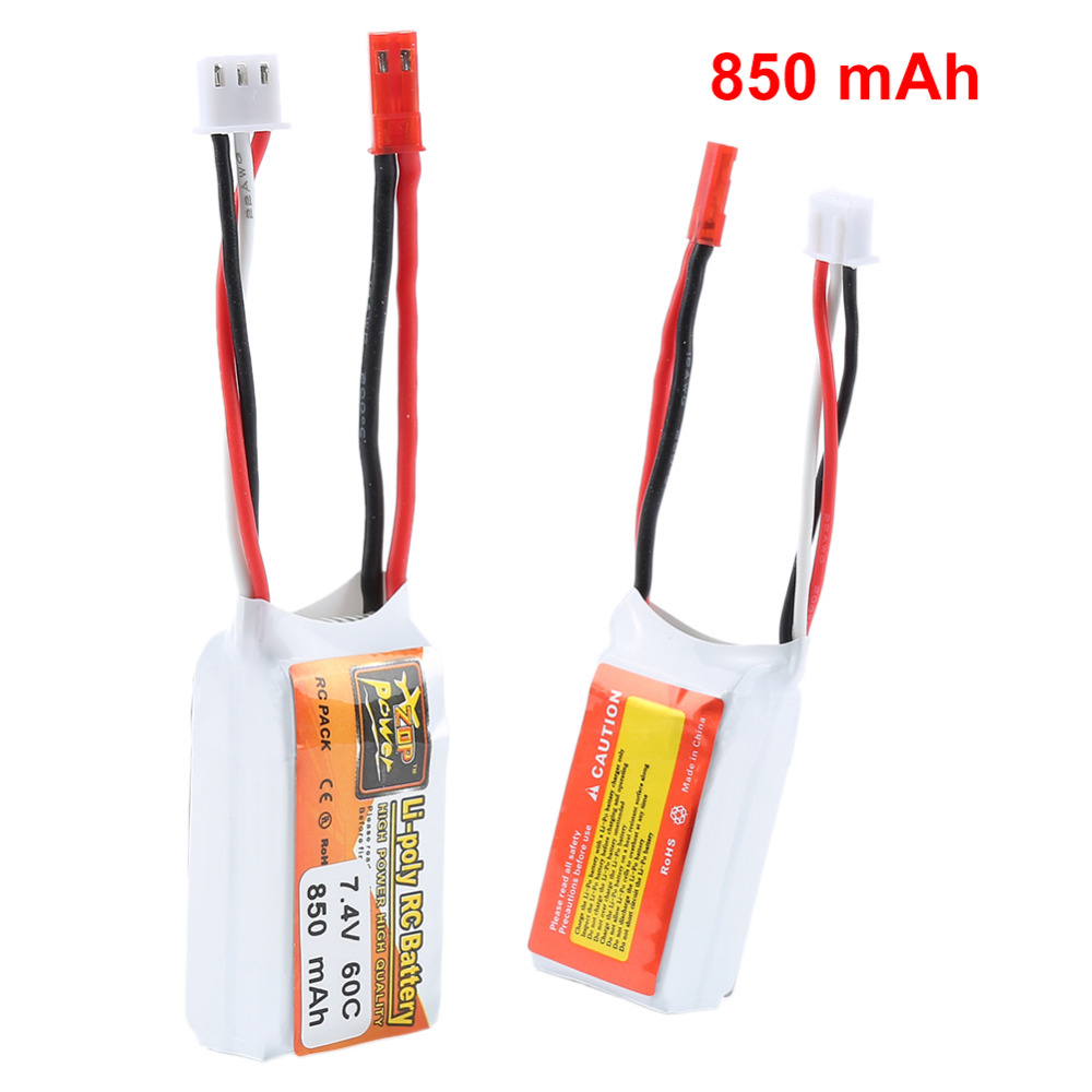 Largely Applicable ZOP Power 7.4V 850mah 60C 2S Durable Lipo Battery JST Plug For RC Aircraft Model Cars FPV Drone цена
