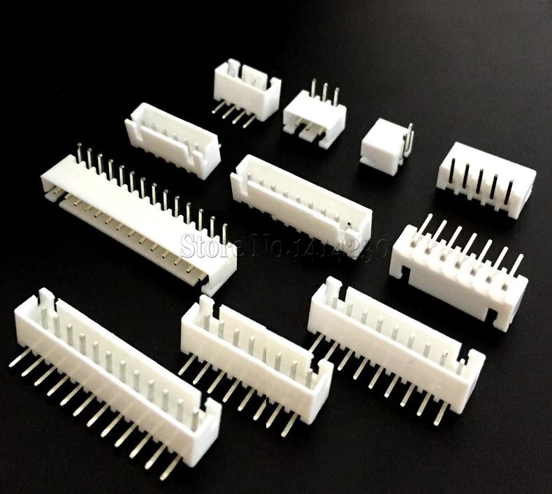 50PCS XH2.54 Connector 2.54mm Pin Header XH2.54-2P/3P/4P/5P/6P/7P/8P/9P/10P/11P/14P/16P Curved Needle