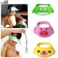 Ajustável Chapéu Do Bebê Criança Crianças Shampoo Touca de Banho de banho de Lavagem Tampas Para Crianças Cuidados Com o Bebê cabelo Escudo Viseira Direto 3 cores