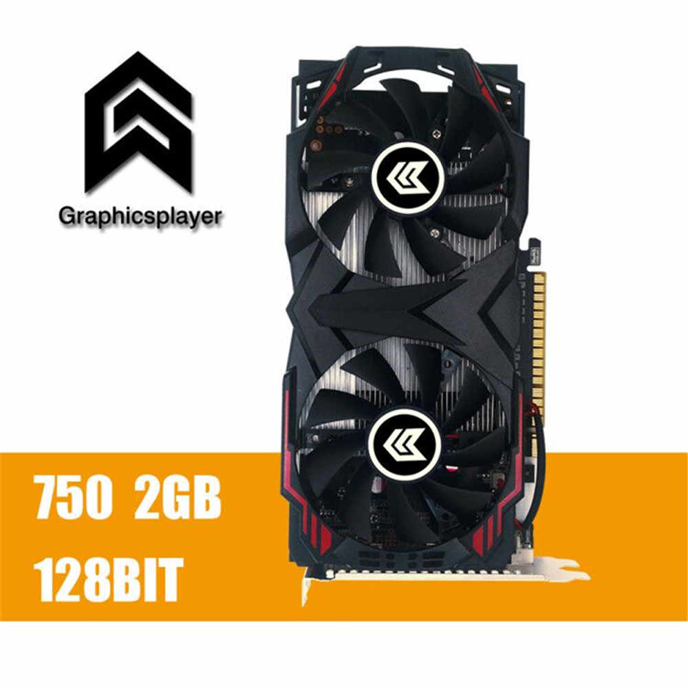 Card đồ họa GTX 750 2048 mb/2 gb 128bit GDDR5 Placa de Video carte graphique Video Card cho NVIDIA geforce PC VGA