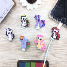 6pcs Cartoon USB Cable Protective Sleeve Saver Earphone Protection Wire Cover Data Charger line Protector For iPhone iPad iPod кабель a data lightning usb для iphone ipad ipod 1м золотистый amfial 100cmk cgd
