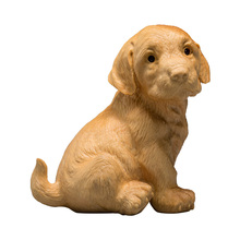 Handmade Carved Poplar Wood Dog Decorative Arts Toy Birthday Gift Dog