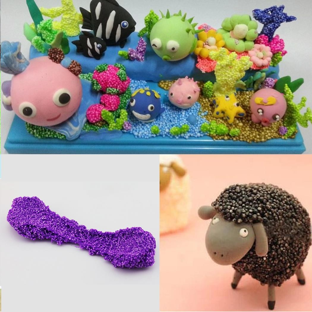 Floam Play Slime Putty Fluffy Homemade Stress Relief Multi Color Confetti DIY