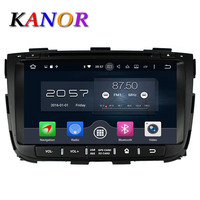 KANOR Núcleo octa IPS Android 6.0 RAM 4g 32g ROM Para KIA Sorento 2013 Car DVD Player GPS Radio WIFI Bluetooth Mapa USB Audio