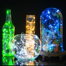 2m/20Leds 3m/30Leds Silver Wire 2 Button Cell Battery Powered Led String Lights Warm White Christmas Fairy Lights