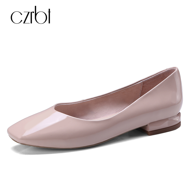 CZRBT Classic Mary Janes Loafers Women Genuine Cow Leather Shallow Mouth Flat Shoes Spring Autumn F Women Shoes Size 34-40 spring autumn women shoes fashion rhinestone slip on round toe flats shallow mouth mature shoes mary janes casual loafers shoes