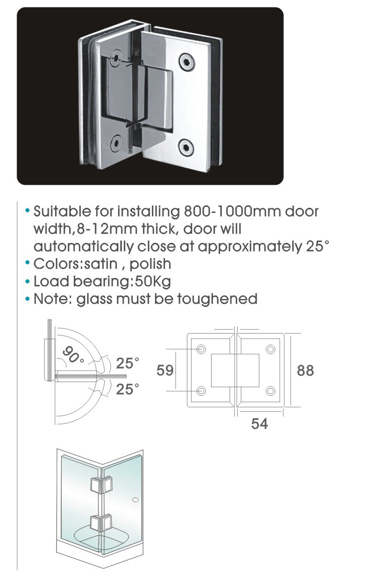 Glass to glass door hinges - Aliexpress Com Buy Shower Door Hinge Glass To Glass Corner Hinge 304 Stainless Steel Spring Hinges Dc 1033 For 8mm 10mm Thick Glass From Reliable