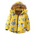 For 3-10 Yrs 2016 Despicable Me Winter autumn Children boy Jackets Hooded Kids Baby boys Clothing Outerwear baby Down Coat