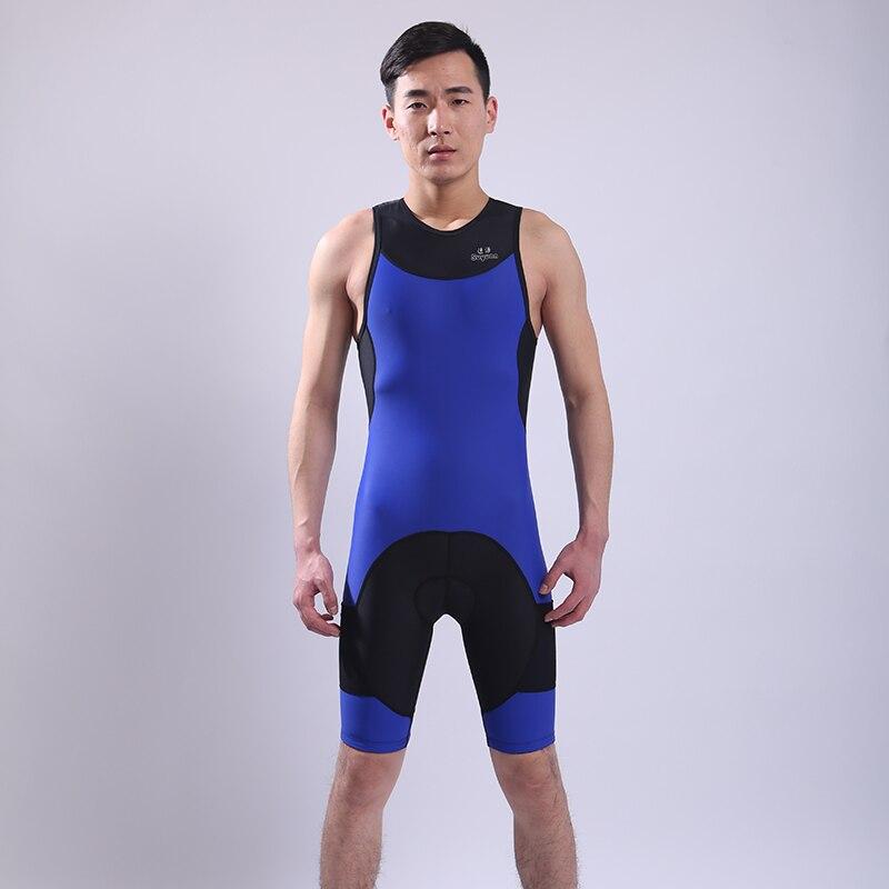 Женщин Триатлон костюм синий для похудения спортивный купальник до колен купальники Профессиональная гоночная купальник
