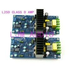One Pair L25D 250W *2 8 ohms IRS2092SPBF + IRF4020 Digital Amplifier Finished Board LJM 2 Boards ljm assembled l25 power amplifier board 250w 8r with angle aluminum 2 channels