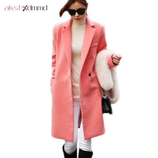 AKSLXDMMD femmes laine manteau 2019 nouveau automne hiver mode coton mi-long laine manteau femme Casaco Abrigos Mujer LH914