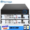 Techage Полный 8-КАНАЛЬНЫЙ или 4CH H.264 Стандартный D1 1080 P AHD-H AHD ВИДЕОНАБЛЮДЕНИЯ DVR NVR HVR все 3 в 1 P2P ONVIF для Аналоговый AHD и IP камера