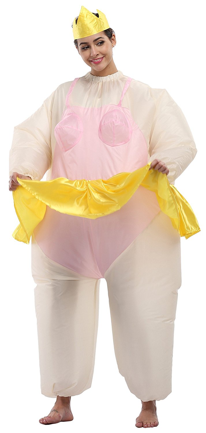 2017 Newest Inflatable Ballet Costume Halloween Party Funny Fat Man Fancy Dress Costume Animal Costume Full Set Adults Cosplay