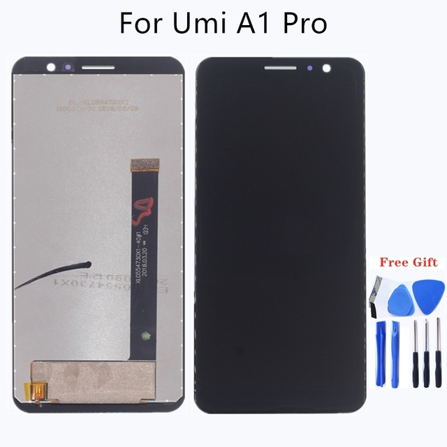 "5.5"" for UMIDIGI A1 PRO LCD display + touch screen assembly for parts replacement for UMI A1 PRO LCD monitors Free shipping"