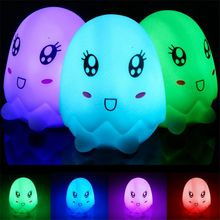 LED RGB 7 Color Dolphins Night Light Colorful Mushrooms Night Light elephants lamp eggs light gift