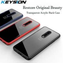 KEYSION Case For OnePlus 7 Pro Case Anti-knock Transparent Acrylic Reinforced Corner TPU Soft Silicone cover for OnePlus 7 Pro