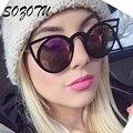 SOZOTU Luxury Cat Eye Óculos De Sol Das Mulheres Óculos de Sol Do Vintage Para Mulheres Senhoras Retro Marca Designer Anti-Reflective Oculos YQ005