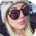 SOZOTU Luxury Cat Eye Sunglasses Women Vintage Sun Glasses For Female Ladies Retro Brand Designer Anti-Reflective Oculos YQ005