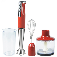 Smoothie Portable Hand Blender For Kitchen 4 In 1 Food Processor Stick With Chopper Whisk Electric
