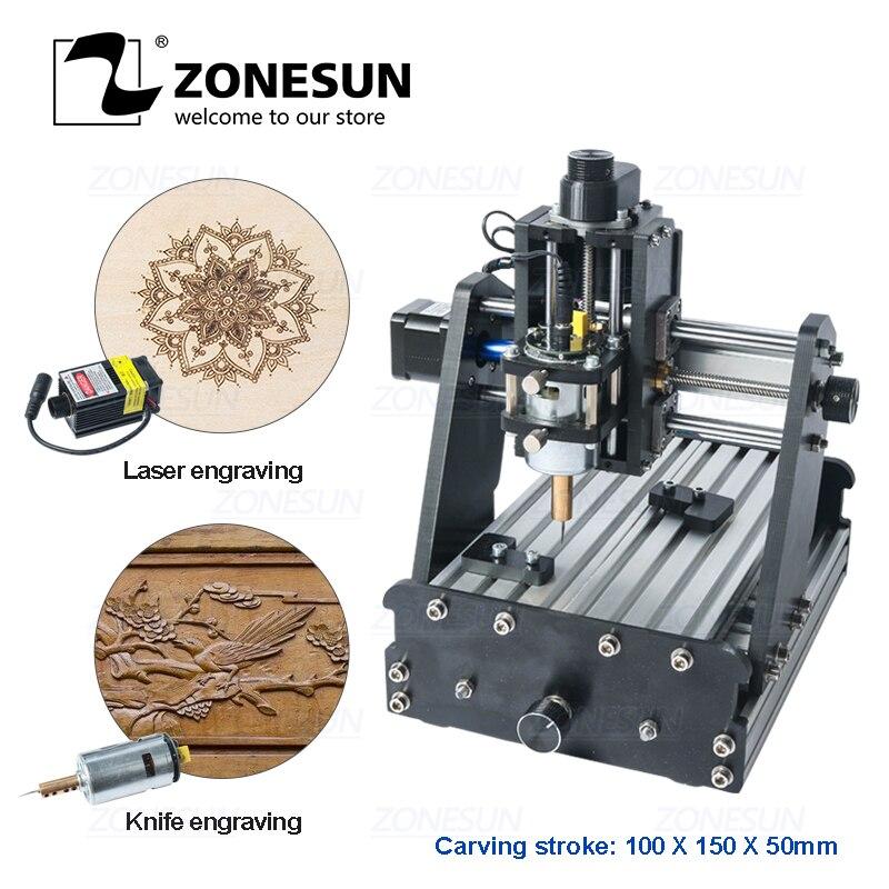 ZONESUN 3axis Mini Diy Cnc Engraving Machine PCB Milling Engraving Machine Wood Carving Machine Cnc Router Cnc Control Leather